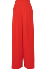 Eloise high-rise crepe wide-leg pants
