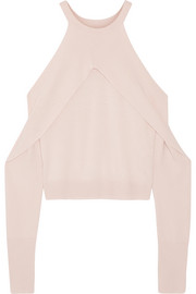 Cutout merino wool sweater