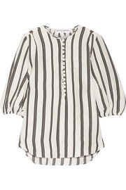 Nueva Augustina striped linen and silk-blend tunic
