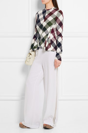 Victoria Beckham Gingham stretch-knit top