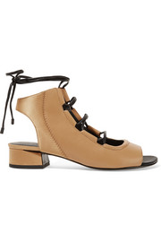 3.1 Phillip Lim Drum satin-paneled leather sandals