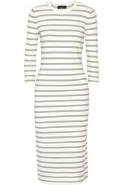 Delissa striped stretch-knit midi dress