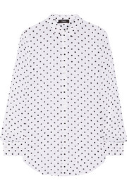 Theory Biritta polka-dot silk-crepon blouse