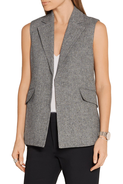 Theory Sedeia linen-crepe vest