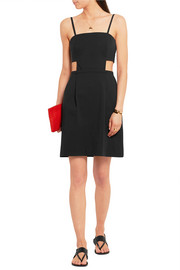Tomas Maier Cutout stretch-cotton poplin dress