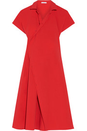 Stretch-cotton poplin shirt dress