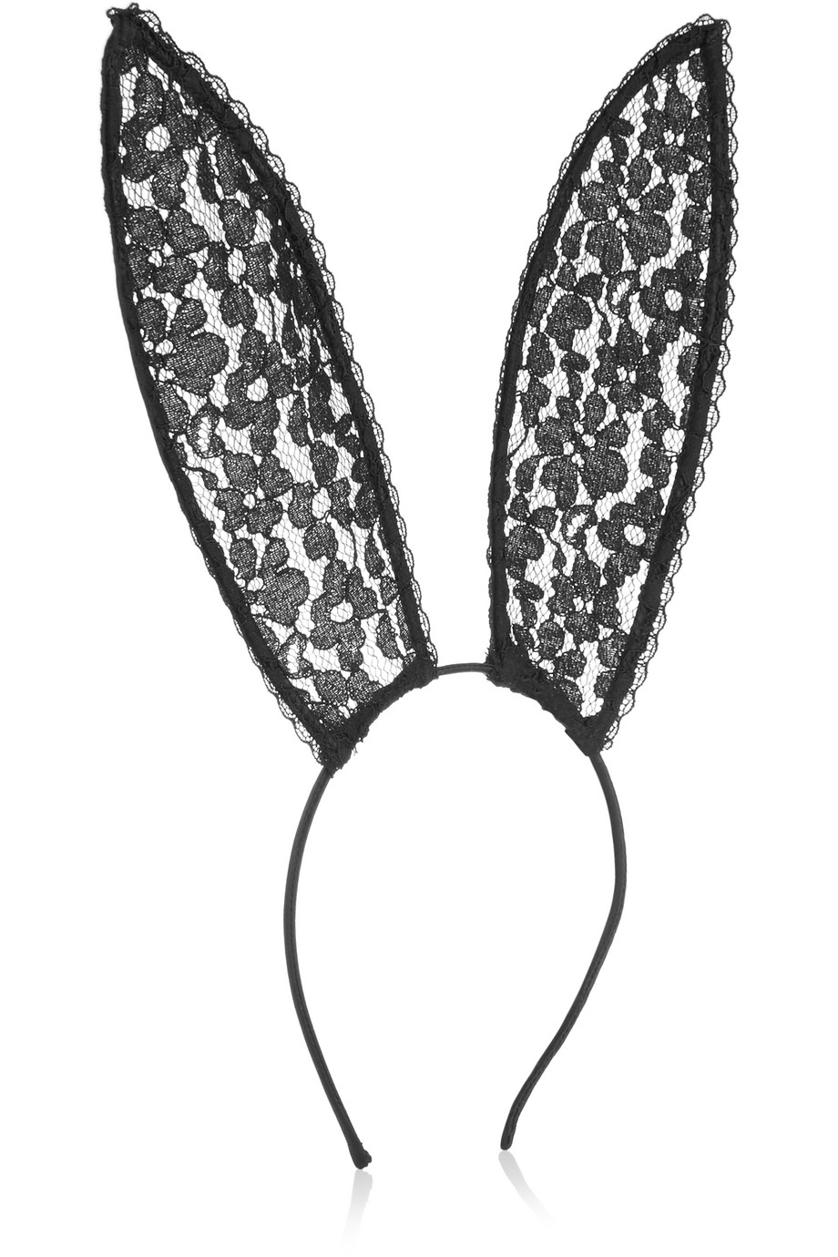 + Playboy Leavers Lace Bunny Ear Headband, Black, Women's, Size: One Size