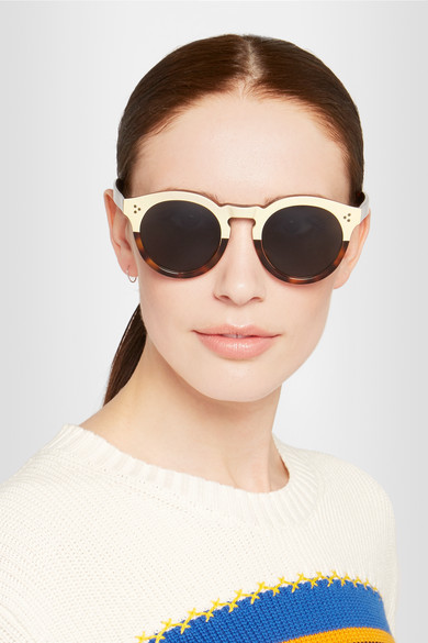 874c215751 Illesteva Leonard Ii Round Frame Sunglasses