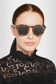 Illesteva Leonard II Ring round-frame acetate and metal sunglasses