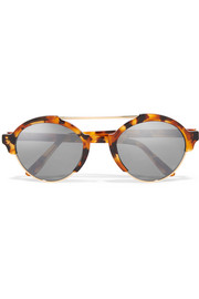 Illesteva Milan III round-frame acetate and metal sunglasses