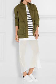 T by Alexander Wang Stretch-cotton twill and satin jacket