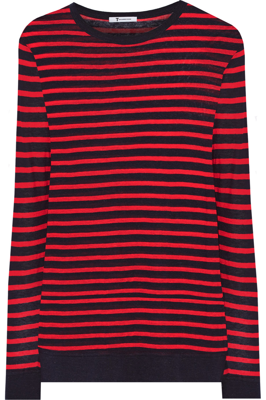 Striped Knitted Sweater, T by Alexander Wang, Red, Women's, Size: XS