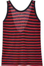 Striped stretch-jersey tank