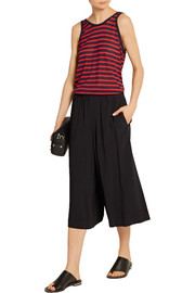 T by Alexander Wang Striped stretch-jersey tank