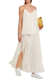Mael crinkled silk-georgette maxi dress