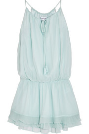 Kenji crinkled silk-georgette mini dress