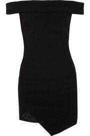 Elizabeth and James Martika asymmetric stretch-ponte mini dress