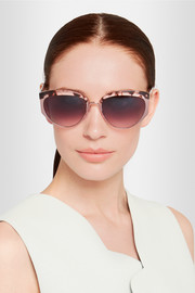 Cutler and Gross New Cocktail cat-eye acetate and metal sunglasses