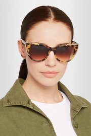Thierry Lasry Butterscotchy cat-eye acetate and gold-plated sunglasses