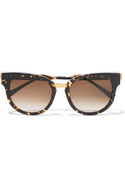 Thierry Lasry Affinity cat-eye acetate and gold-plated sunglasses