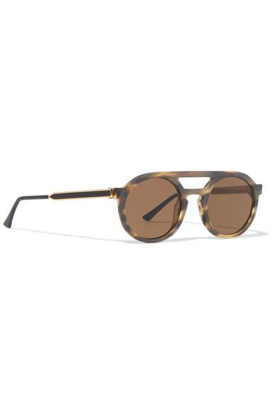 3e08326291 Thierry Lasry. Gravity round-frame matte-acetate sunglasses