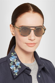 Thierry Lasry Gravity round-frame matte-acetate sunglasses