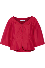 Cotton-blend taffeta jacket