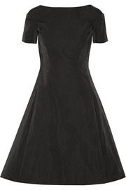 Drop-waist duchesse-satin dress
