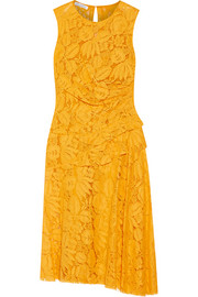 Cotton-blend corded lace dress