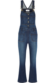 Le High cropped denim overalls
