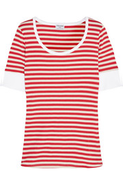 Frame Denim Le Boatneck striped stretch-cotton jersey T-shirt