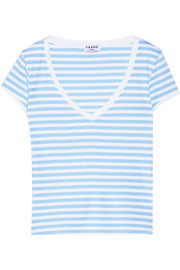 Frame Denim Le Button striped stretch-cotton jersey T-shirt