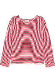 Frame Denim Le Knit Crew striped cotton sweater