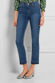 Frame Denim Le High cropped slim-leg jeans