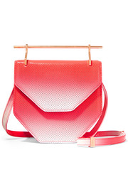 Amor Fati dégradé perforated patent-leather shoulder bag