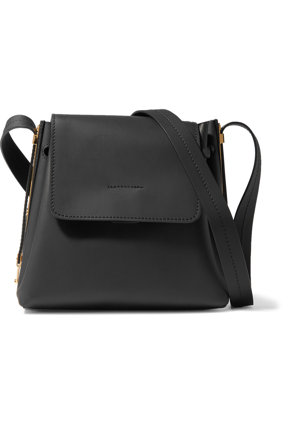 Sophie Hulme Claremont Leather Shoulder Bag, Black, Women's