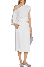 Tibi Belted twill wrap skirt