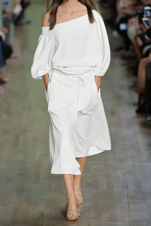Tibi Belted twill wrap skirt