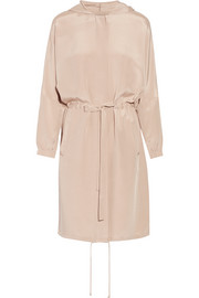 Tibi Hooded silk crepe de chine coat