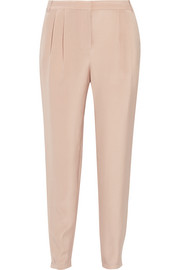 Seleste silk crepe de chine tapered pants