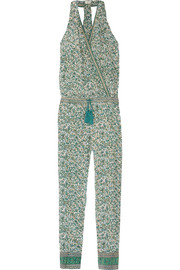 Printed silk-georgette jumpsuit