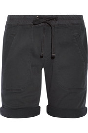 James Perse Stretch cotton and modal-blend twill shorts