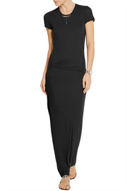 James Perse Ruched cotton-jersey maxi dress