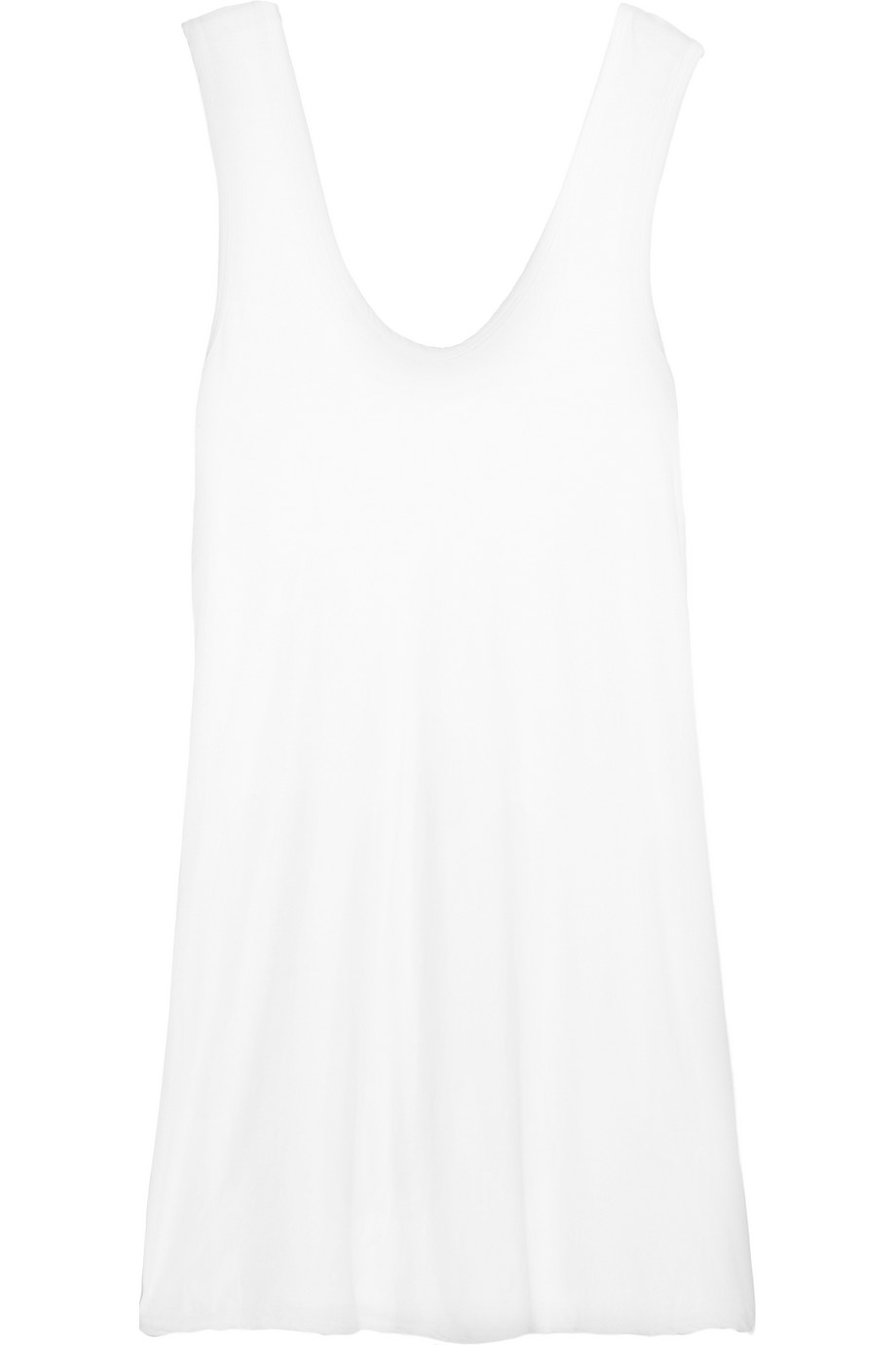 James Perse Cotton-Jersey Mini Dress, White, Women's, Size: 2