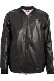 Nike NikeCourt coated mesh bomber jacket
