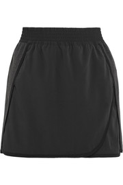 Nike Cotton-jersey and crepe de chine tennis skirt