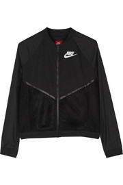Nike Tech mesh and shell bomber jacket