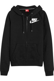 Nike Rally FZ cotton-blend jersey hooded sweatshirt