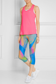 Pro Hypercool Frequency printed stretch-jersey leggings