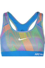 Nike Pro Classic printed stretch-jersey sports bra